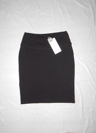 S-m, поб 44-48 трикотажная юбка карандаш на высоком поясе kaffe