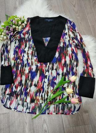 Женская цветная классическая блузка блуза кофточка