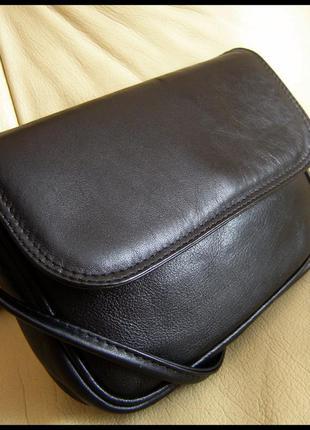 Стильная кожаная сумка кроссбоди на плечо - kern - 100% натуральная кожа