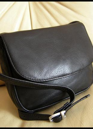 Стильная кожаная сумка кроссбоди на плечо – karina - 100% натуральная кожа