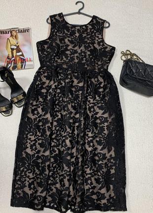 Шикарное ажурное платье,размер xl