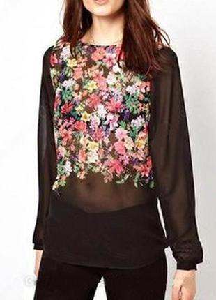 Цветочная блузка warehouse