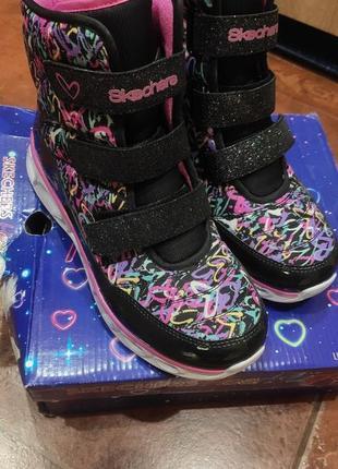 Демисезонные полу ботинки, кроссовки skechers
