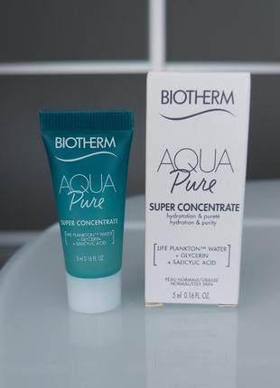 Увлажняющий консентрат biotherm aqua pure super concentrate