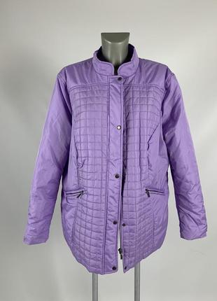 Женская осенняя куртка фиолетового сиреневого лавандового цвета / размер xxl