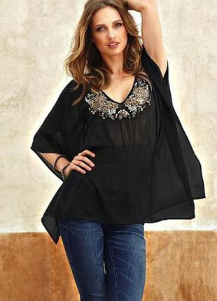 Блуза свободного кроя moda international (бренд victoria's secret) m