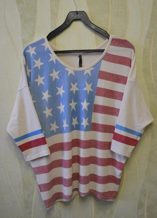 Свитер с флагом америки gloria jeans