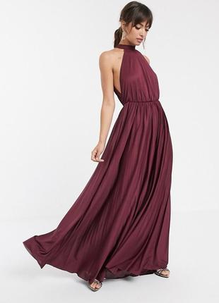 Asos фіолетова марсала сукня-плісе