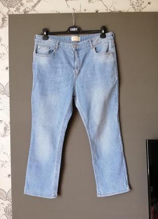 Блакитні джинси висока посадка укр 52р