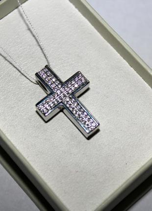 Бесплатная доставка, серебряная подвеска, декоративный крестик