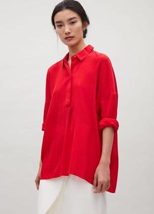 Красная свободная блуза cos