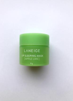 Ночная маска для губ с яблоком и лаймом laneige apple lime lip sleeping mask, 8г