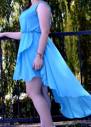 Голубе плаття  платье коктейльные
