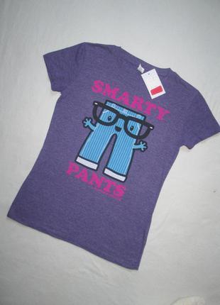 Суперовая футболка с надписью smarty pants