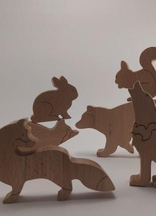 """Сет з шести фігурок """"лісові звірі"""""""
