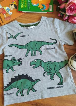 Классная трикотажная футболка h&m на 2-4 года.