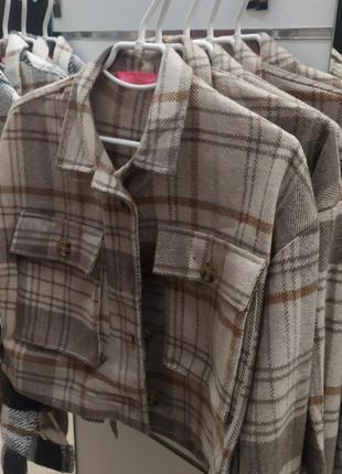 Укороченная теплая рубашка