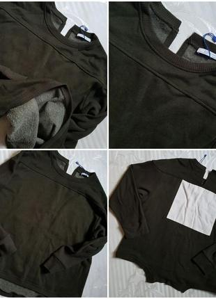 Zara теплый оверсайз свитшот реглан свитер