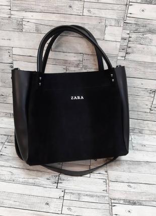 Сумочки 4 цвета кожа + замш, универсальная сумка, женская сумка, стильная сумка (арт 210)