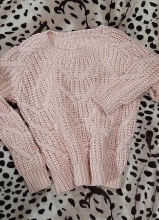 Вязаный укороченный свитер