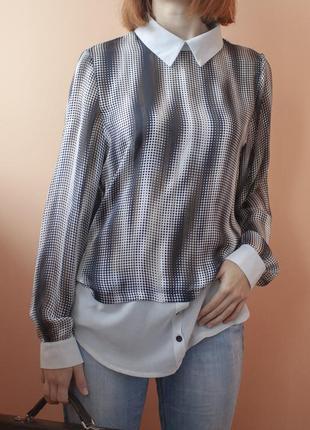 Итальянская женская блуза в горошек