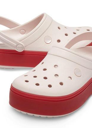 Кроксы женские светло пудровые