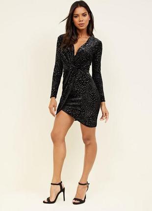 Бархатное платье с блестками