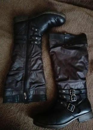 Высокие зимние сапоги / кожаные сапоги от tamaris
