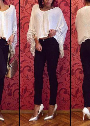 Джинсы бренд h&m скини (скинни) брюки джинсовые женские черные