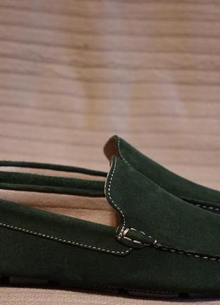 Изящные замшевые мокасины темно бутылочного цвета air force италия 42