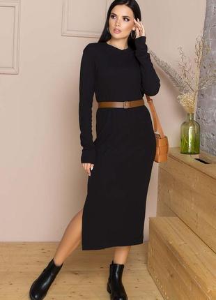 Базовое трикотажное платье станет отличным дополнением к базовому гардеробу