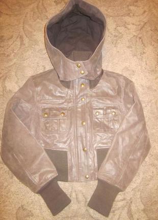 Кожаная курточка размер xs