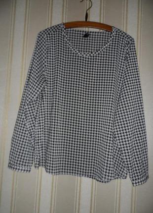 Блуза длинный рукав / прямого кроя  размер 42 // x l