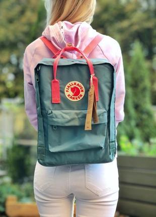 Прекрасный рюкзак портфель fjallraven kanken бутылочный цвет