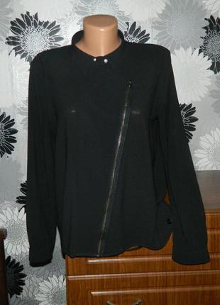 Блуза черная на молнии esprit m l 40 46 48
