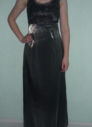 Шикарное вечернее, выпускное платье металлик р.м