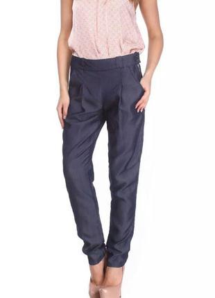 Офисные брюки benetton из шикарного материала - тенсела.