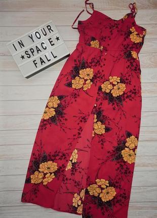 Красный сарафан в цветы