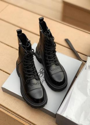 Ботинки balenciaga boots tractor black черевики