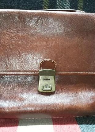 Портфель кожаный винтажный