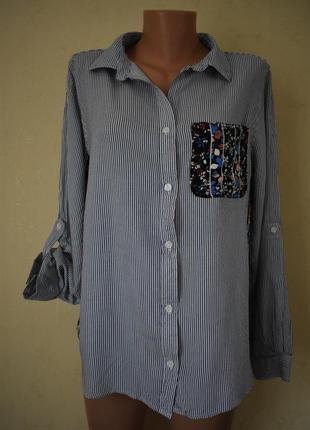 Блуза-рубашка с принтом