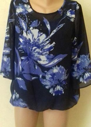 Новая красивая шифоновая блуза с принтом
