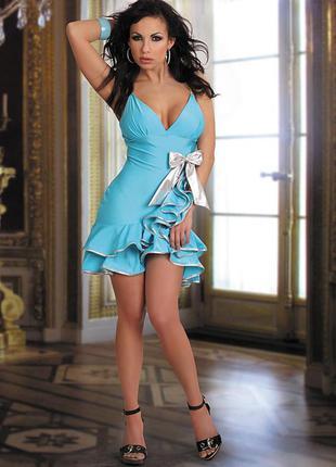 Обалденное коктейльное сексуальное платье. размер xl.
