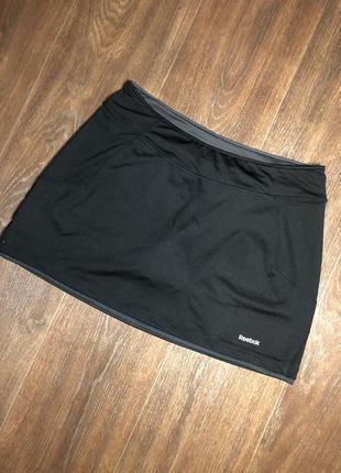 Спортивная юбка шорты для фитнеса зала бега йога