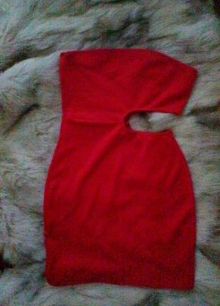 Платье бюстье с вырезом