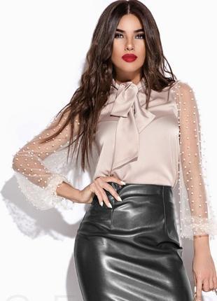 Элегантная шелковая блузка