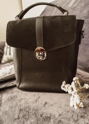 Крутой рюкзак черного цвета