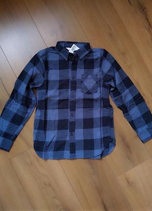 Рубашка фланелевая (теплая) h&m для мальчика 7-8 лет и 9-10 лет