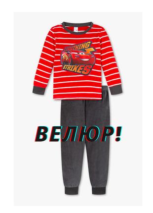 Акция. теплая велюровая пижама/домашний костюм c&a тачки cars