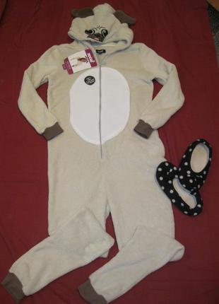 Собака мопс кигуруми пижама комбинезон с рост до 166 см